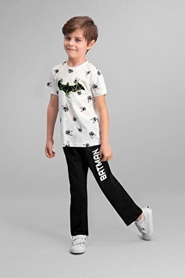 Batman Batman Lisanslı Lacivert Erkek Çocuk Pijama Takımı Krem